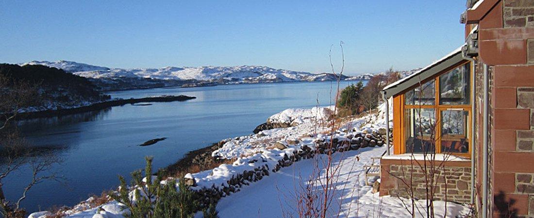 Shieldaig, winter luxury holiday home, Scotland