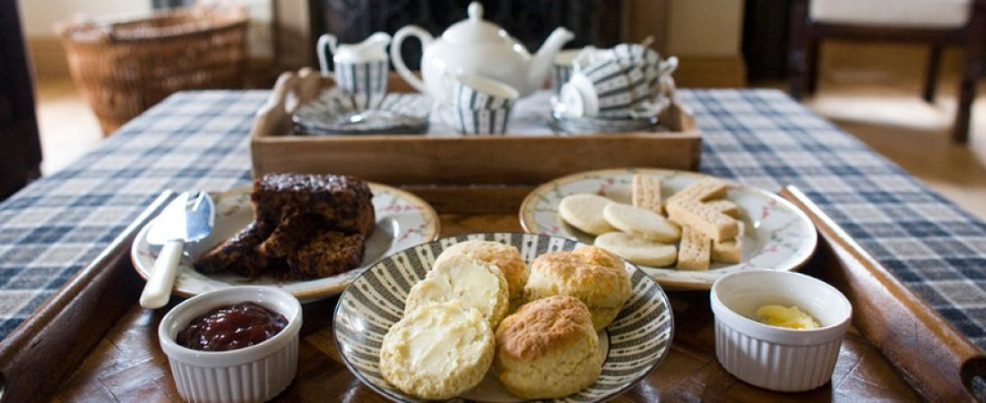Afternoon tea, luxury holiday home, Shieldaig, Scotland
