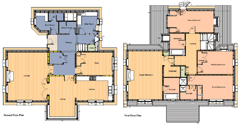 An Cos Floor Plan, luxury highland house, Shieldaig, Scotland