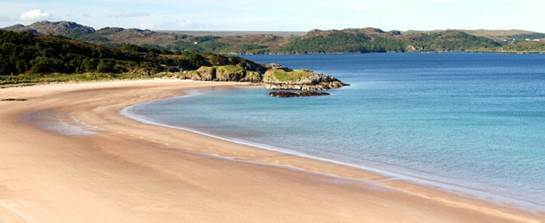 Stunning beach at Gairloch near Shieldaig, Scotland