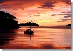 Stunning Shieldaig sunsets, Scottish highlands