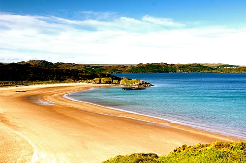 Stunning beaches near Shieldaig, Scotland