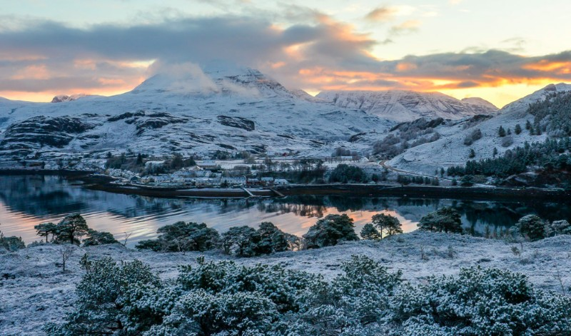 Winter in Shieldaig, Scotland