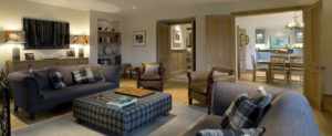 Sitting room, luxury highland house, Shieldaig, Scottish highlands
