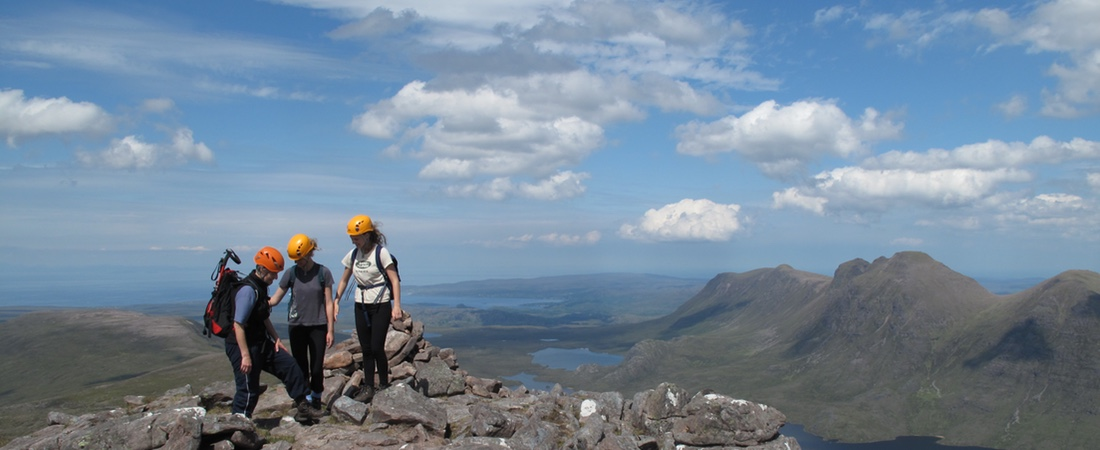 Mountain guiding & walking in Torridon Mountains, An Cos luxury highland cottage, Scotland