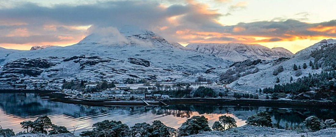 Winter in Shieldaig, luxury holiday rental, Scotland