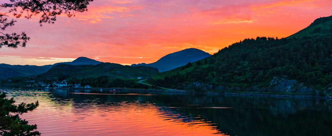 Shieldaig sunrise, luxury holiday lodge, Scotland