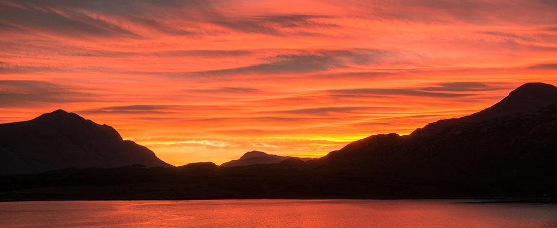 Shieldaig sunrise, Scottish Highlands
