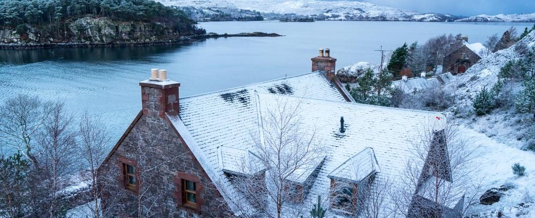 Christmas in the Highlands, luxury holiday home, Shieldaig, Scotland