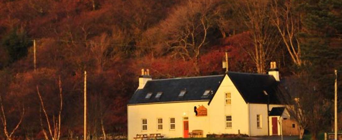 Gille Brigdhe restaurant near An Cos Shieldaig, Scottish highlands